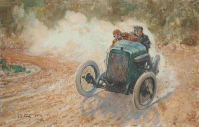 Georges Boillot Peugeot 1912 Mont Ventoux final red